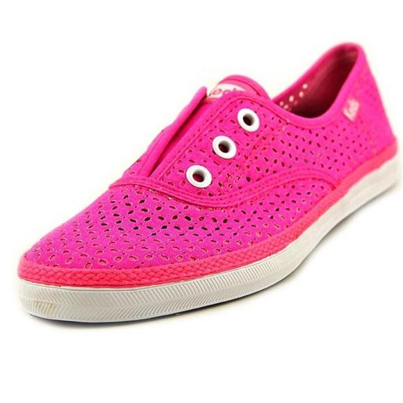 NWOT Keds Neon Pink Slip On Keds